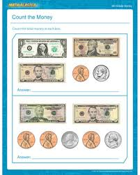 count the money u2013 free printable money worksheet for 4th grade