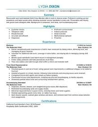 doc 620800 hospitality resume u2013 hospitality resume sample