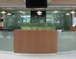 Glass Reception Desk Glass Reception Desk Fusion Executive Office Furniture