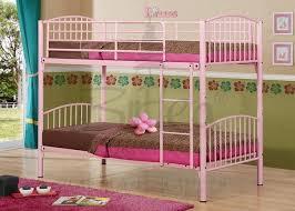 Bunk Beds Pink Birlea Corfu Pink Metal Bunk Bed Frame By Birlea