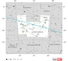 Sky Maps Capricornus Constellation Facts Myth Star Map Major Stars