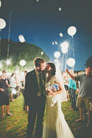 wedding send ideas 25 creative wedding exit send ideas led balloons white