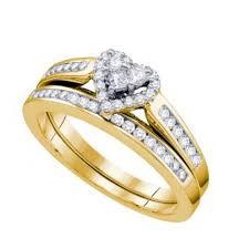 rings wedding set images Diamond bridal wedding set 10k gold 5ct two piece ring band jpg