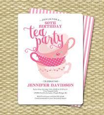 birthday tea invitations birthday tea invitation