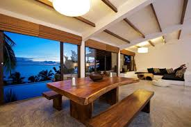 kitchen style open air tropical kitchen design wood ceiling beams