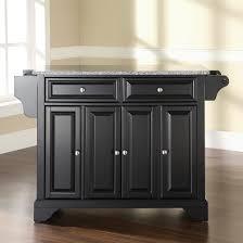black granite top kitchen island crosley furniture lafayette solid black granite top kitchen island