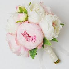peonies bouquet white a two tone peony bouquet