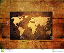 World Map On Wood Planks by Wood World Map Vintage Artwork Royalty Free Stock Photography