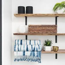 Wood Bathroom Shelves by Bathroom Shelves Design Ideas