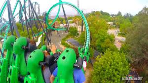six flags magic mountain stand up roller coaster the riddler u0027s revenge hd pov six