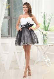 online get cheap plus size short black and white wedding dress