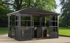 Outdoor Screen House by Gazebo Britania 77 Anthracite Charcoal Screen House 8mm 10 U0027x12