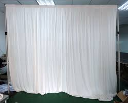 white see through fabric curtain decorate with the lights in