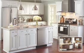 how much does home depot charge for cabinet refacing a kitchen with cabinets refaced in a white finish cost of