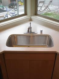 Kitchen Sink Cabinets Kitchen Breathtaking Cool Stainless Steel Corner Sink Splendid