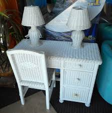 White Wicker Desk by Consignment Office Furniture Outer Banks Foreclosures
