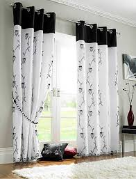 Black And White Thermal Curtains White Curtains With Black Design 100 Images Furniture Modern