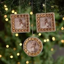 gold jeweled picture frame ornaments set of 3 kirklands