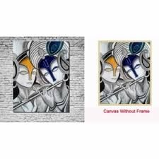 Canvas Without Frame Wall Art Frame Black U0026 White Radha Krishna Canvas Painting Wall