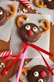 chocolate covered oreo reindeer cookies sugar apron