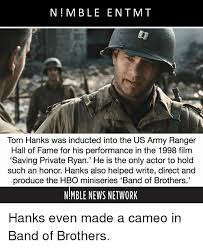 Army Ranger Memes - n mble entmt tom hanks was inducted into the us army ranger hall of