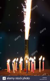 candle sparklers birthday cake with sparkler candles stock photo 309860214 alamy