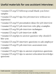 Ceo Assistant Resume Top 8 Ceo Assistant Resume Samples