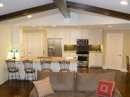 Open Concept Kitchen Design Kitchen Open Concept Kitchen Living Room With Classic Chairs And