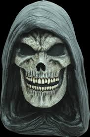 Grim Reaper Halloween Costumes Grim Reaper Hooded Skull Skeleton Evil Angel Darkness Halloween