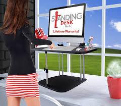 amazon com standing desk hub sit stand desk converter adjustable