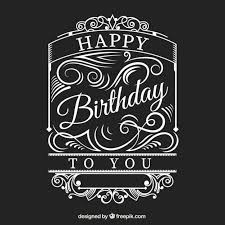 happy birthday card in retro style vector free download