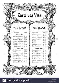 gastronomy menu wine list vignette by a giraldon 1904