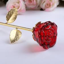 Rose Dipped In Gold Cheap Crystal Blue Rose Dipped In 24k Gold Free Purple Gift Box