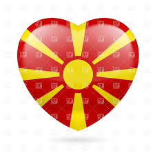 Flag Yellow Sun National Flag Of Macedonia Yellow Sun On Red Background Royalty