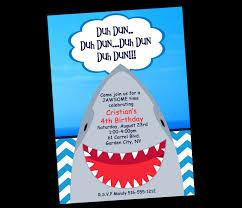 A Birthday Invitation Card Shark Birthday Invitations Kawaiitheo Com