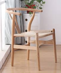 hans wegner wishbone chair replica ash cord furniture