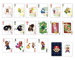 mario themed deck of cards by cabong on deviantart