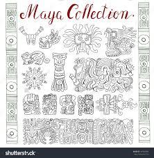 Aztec Mayan Inca Map Vintage Collection Graphic Maya Inca Aztec Stock Vector 497037682