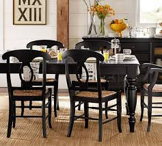 Black Extendable Dining Table Lachman Extending Dining Table Pottery Barn