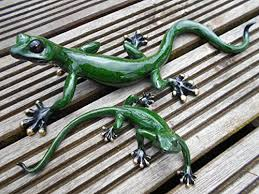 gecko garden ornaments set of two gecko ornaments co uk