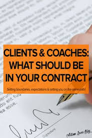 coaching agreement contract template sample coaching confused