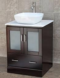 24 Inch Bathroom Vanity Cabinet 24 Bathroom Vanity Cabinet White Tech Quartz Top Glass