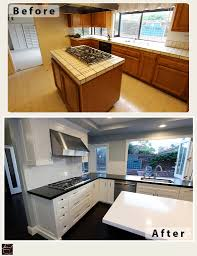 Black And White Kitchen Transitional Kitchen by Irvine Transitional Black And White U Shaped Kitchen And Home