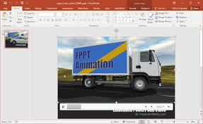 animated cargo truck powerpoint template