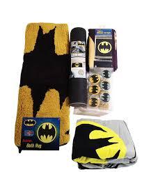 Walmart Com Shower Curtains Amazon Com Batman Bathroom Set Shower Curtain Hooks Bath Rug