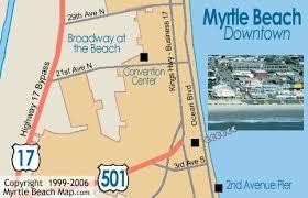 south carolina beaches map myrtle tourist map myrtle mappery