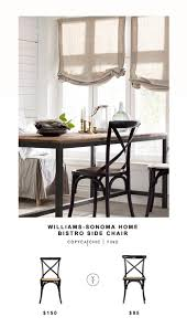 Bistro Home Decor Williams Sonoma Home Bistro Side Chair Copycatchic