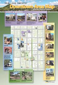 City Of San Jose Zoning Map by Downtown City Of San Luis Obispo Ca