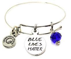 blue bangle bracelet images Blue lives matter bangle bracelet american made pewter bracelets JPG