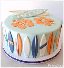 Tropical Theme Birthday Cake - birthday cakes the pastry studio